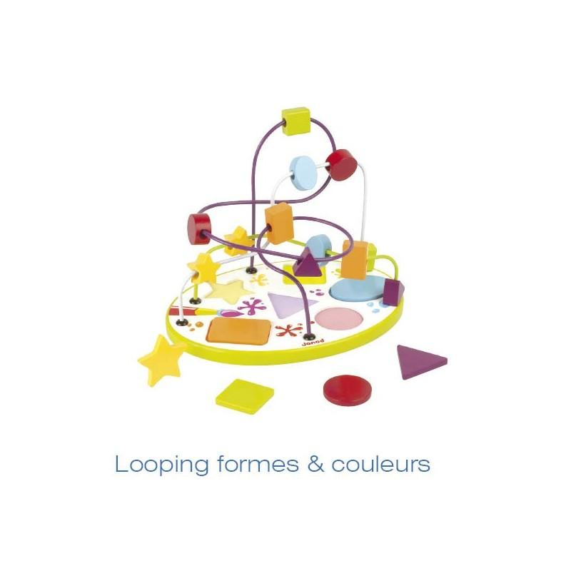 Boulier puzzle formes & couleurs 250x175x185mm