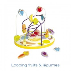 Boulier puzzle fruits & legume 250x175x210mm