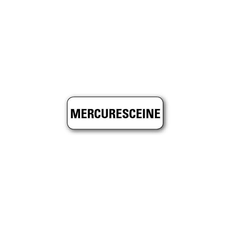 "720 ETIQUETTES 38*13MM IMP ""MERCURESCEINE"""