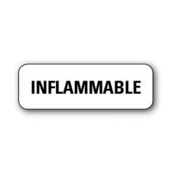"""Etiquette pharmacie 35,6x16,9mm """"inflammable"""" par 720  blanc"""