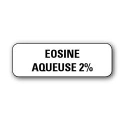 "Etiquette pharmacie 35,6x16,9mm ""eosine aqueuse 2%"" par 720"