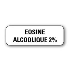 """Etiquette pharmacie 35,6x16,9mm """"eosine alcoolique2%"""" par 720"""