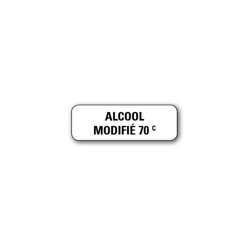 """720 ETIQUETTES 38*13MM IMP """"ALCOOL MODIFIE 70°"""""""