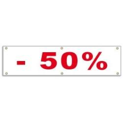 Banderole -50% (100x25cm)