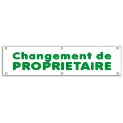 Banderole CHANGEMENT DE PROPRIETAIRE