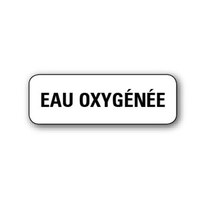 """720 ETIQUETTES 38*13MM IMP """"EAU OXYGENEE"""""""