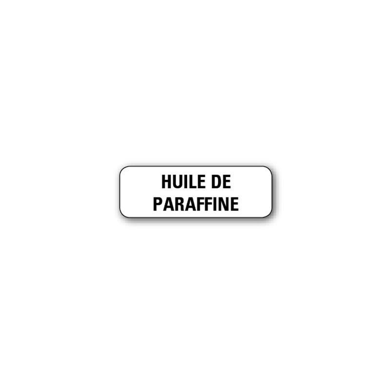 """720 ETIQUETTES 38*13MM IMP """"HUILE DE PARAFINE"""""""