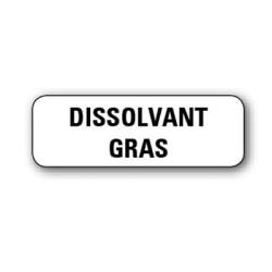 """Etiquette pharmacie 35,6x16,9mm """"dissolvant gras"""" par 720"""
