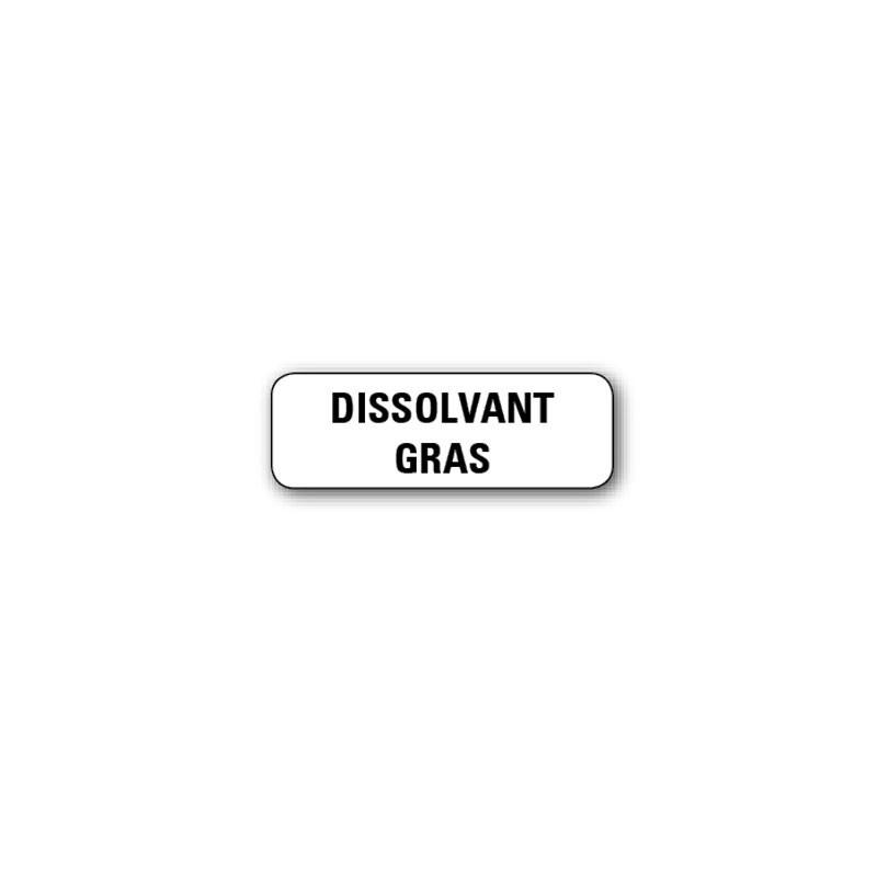 "720 ETIQUETTES 38*13MM IMP ""DISSOLVANT GRAS"""