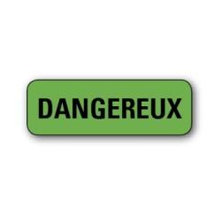 """Etiquette pharmacie 35,6x16,9mm """"dangereux"""" par 720"""