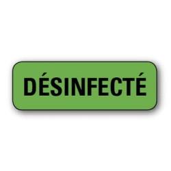 """Etiquette pharmacie 35,6x16,9mm """"desinfecte"""" par 720"""