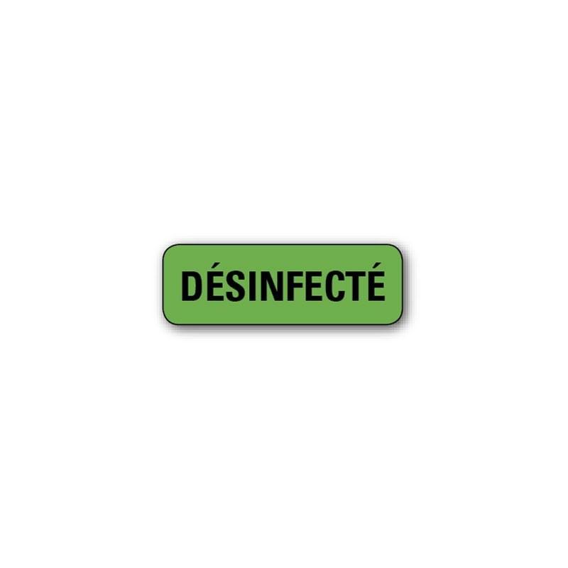 """720 ETIQUETTES 38*13MM IMP """"DESINFECTE"""""""