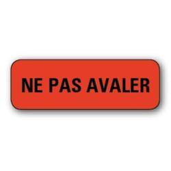 """Etiquette pharmacie 35,6x16,9mm """"ne pas avaler"""" par 720"""