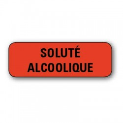 "Etiquette pharmacie 35,6x16,9mm ""solution alcoolique"" par 720"