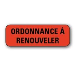 """Etiquette 35,6x16,9mm """"Ordonnace à renouveler"""" par 720"""