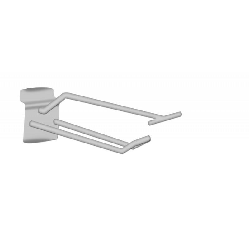 Broche double T chromée pour panneaux rainurés L10cm