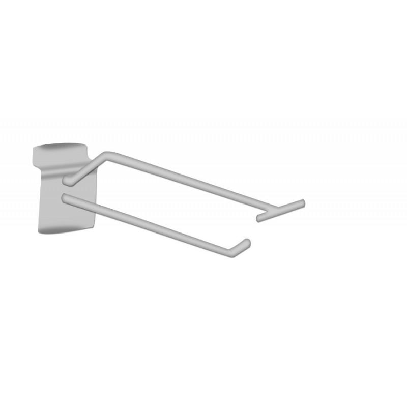 Broche simple T chromée pour panneaux rainurés L10cm