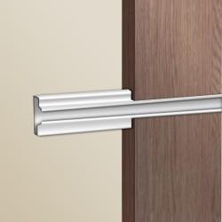 Insert aluminium pour panneaux rainurés L595mm