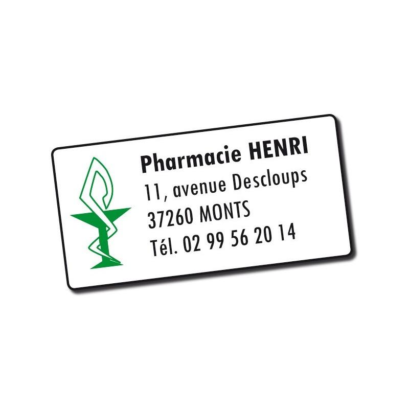 Etiquette Pharmacie personnalisée 48,5x25,4mm Par 500