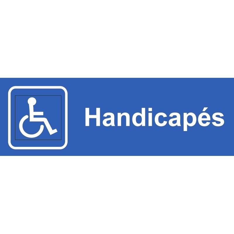 plaque acrylique securite 150x40mm handicapes