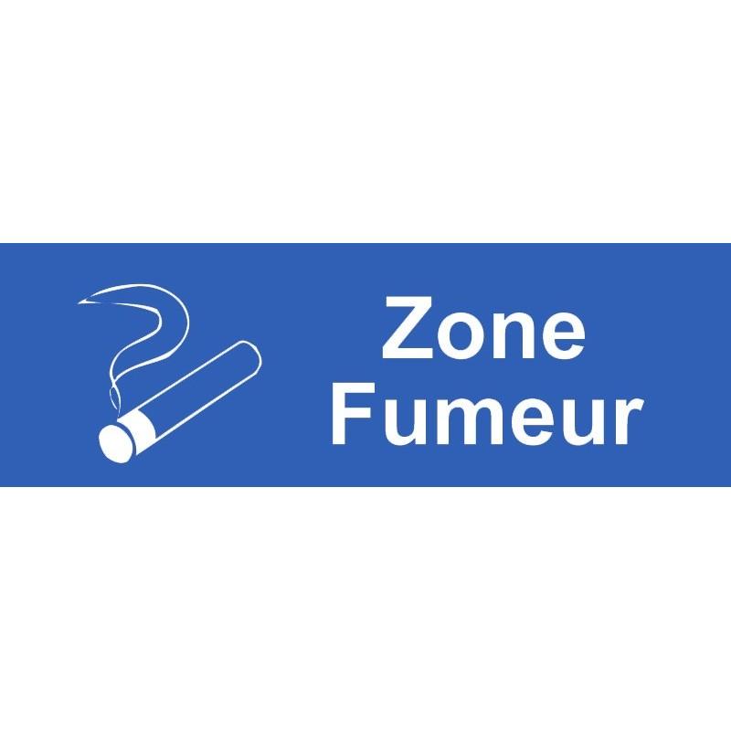 plaque acrylique securite 150x40mm zone fumeur