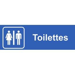 Plaque acrylique securite 150x40mm toilettes