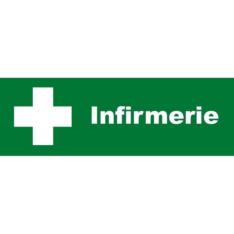 Plaque acrylique securite 150x40mm infirmerie