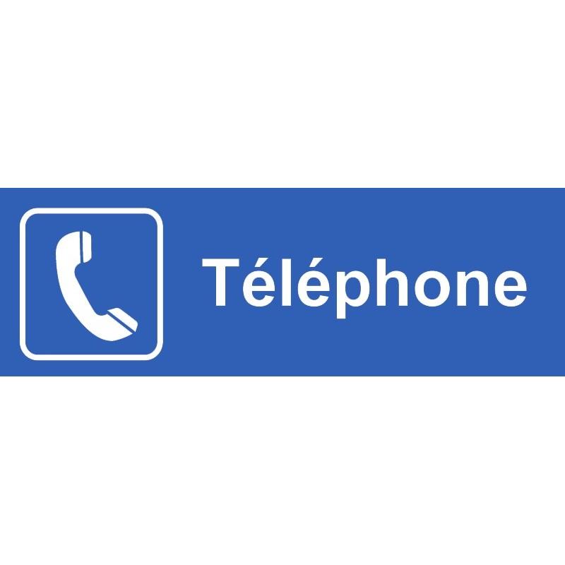 Plaque acrylique securite 150x40mm telephone