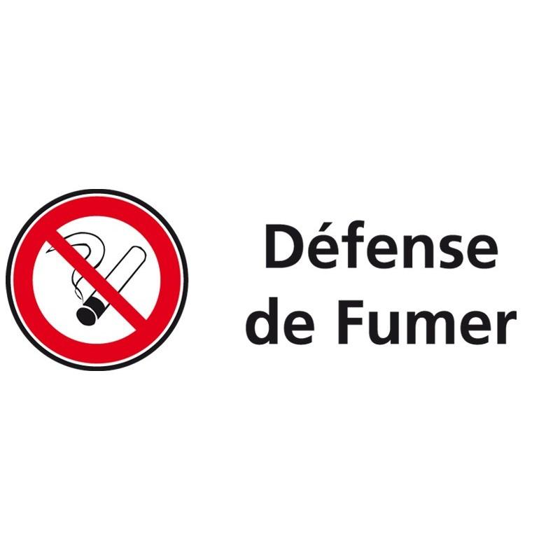 Plaque acrylique securite 150x40mm defense de fumer