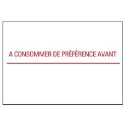 Étiquette pour Duo20 -  A consommer de préférence avant