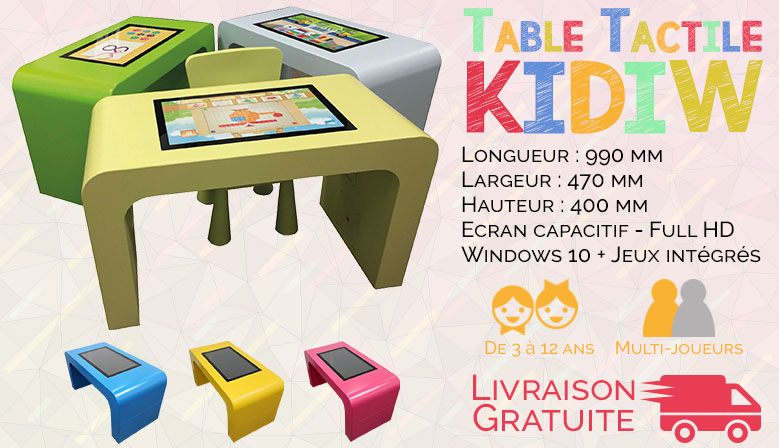 Tables tactiles Kidiw